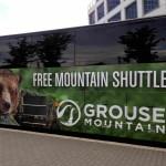 無料シャトルバスでのグラウスマウンテンへの行き方
