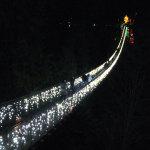 """冬限定・キャピラノ吊り橋のライトアップ・イルミネーション""""Canyon Lights"""""""