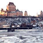 ケベックシティーでは「ケベックNo.1の景色」とも言われるセントローレンス川のフェリー往復がおすすめです